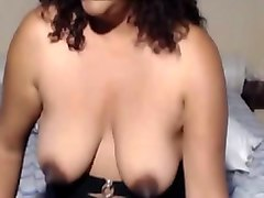 latin mature friend shows awesome masturbation show