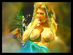 Busty mermaid masturbates alone