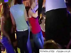 Dancing babes on party