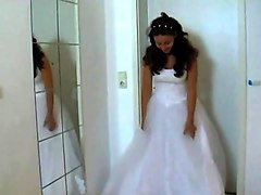 bride flashing her pussy to the cameraman