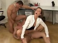 bisexual office threesome