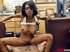 huge tits ebony sells her car and banged