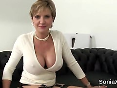 Cheating british mature lady sonia exposes her gigantic tits