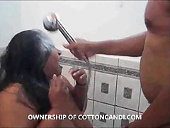ebony ssbbw cotton candi wears toilet seat n sucks dick