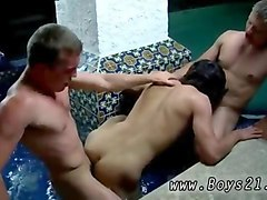 nasty butt pirates have a threesome in the pool