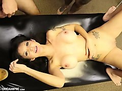 lexy gets gangbanged with creampies
